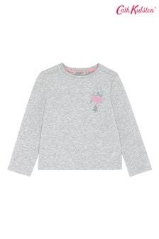Cath Kidston Grey Kids Long Sleeve Ice Skater T-Shirt
