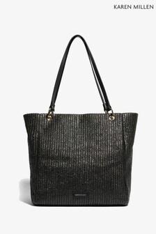 Karen Millen Black Woven Bag