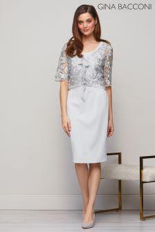 Gina Bacconi Grey Lily Dress And Jacket