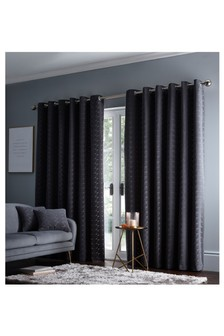 Studio G Charcoal Lucca Eyelet Curtains