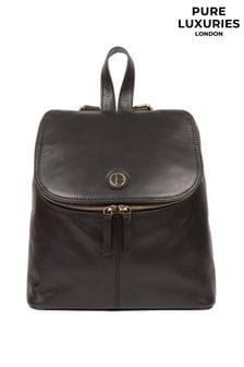 PureLuxuries London Black Marbury Leather Backpack