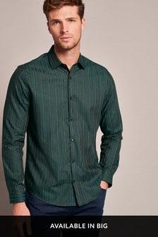 Gestreiftes Hemd in Slim Fit-Passform