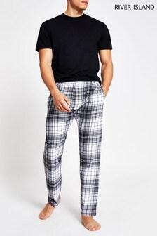 River Island Check Lounge Pyjama Bottoms