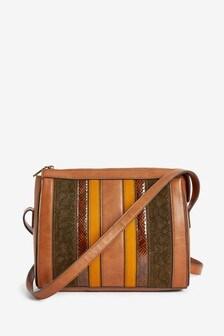 Spliced Detail Across-Body Bag