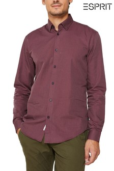 Esprit Red Shirt With Micro Structure