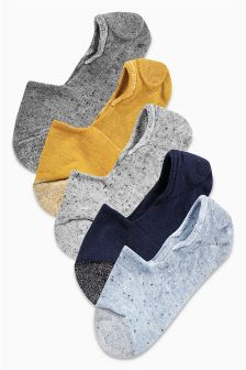 Sparkle Neppy Invisible Trainer Socks Five Pack