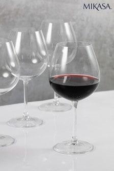 Set of 4 Mikasa Julie Red Wine Glasses
