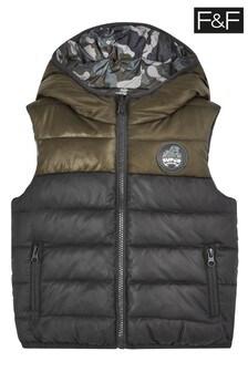 Kaki prešívaná vesta F&F
