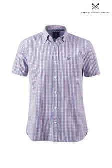 Crew Clothing Company Pink Crew Micro Gingham Shirt