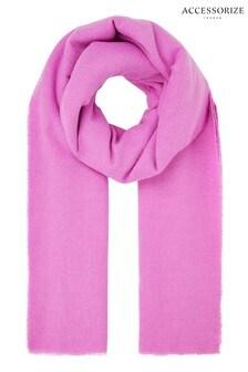 Accessorize Wells超級柔軟粉色圍巾