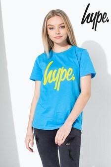 Hype. Large Script Kids T-Shirt