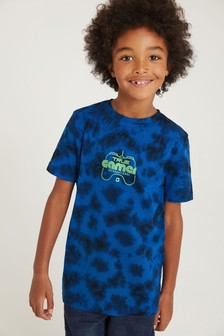 F&F Blue Tie Dye Back Print T-Shirt