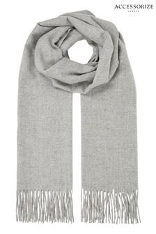 Accessorize Grey Holly Supersoft Scarf