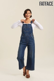 FatFace Blue Clayton Dungarees