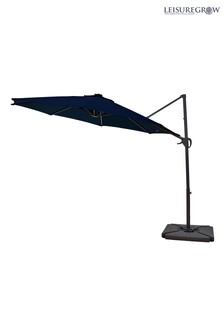 Maple 3m Navy Blue Solar Powered Cantilever Parasol By Leisuregrow