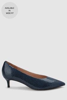 Кожаные туфли на каблуке-рюмочке