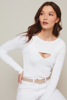 Long Sleeve Cut Out Layer Top