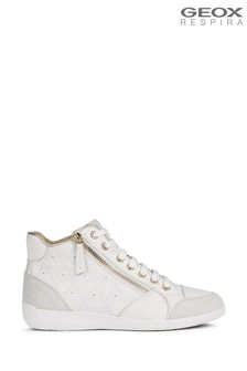 Geox Women's Myria White Shoes