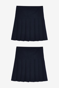 2 Pack Slim Fit Pleat Skirts (3-16yrs)