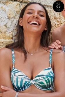 Leaf Print Shape Enhancing Bikini Top
