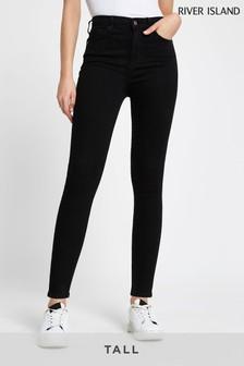 River Island Tall Black High Rise Skinny Jeans