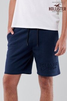 Hollister Navy Embossed Shorts