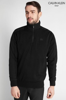 Calvin Klein Golf Black Bruce Lined Half Zip Sweater