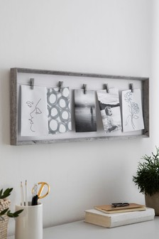 Concrete Effect Peg Frame