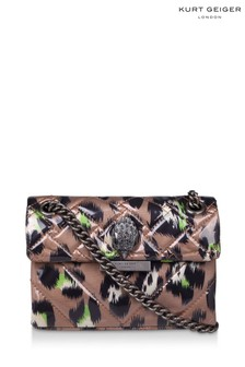 Kurt Geiger London Camel Mini Kensington Fabric Bag