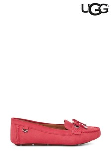 UGG® Red Strawberry Sorbet Eevon Suede Loafers
