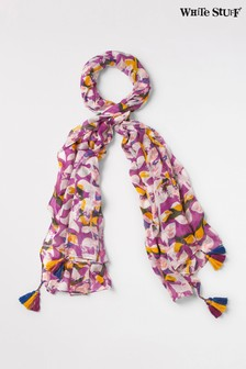 White Stuff Pink Margot Printed Modal Scarf