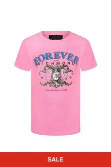 John Richmond Girls Pink Cotton T-Shirt