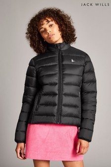 Jack Wills Black Lorna Padded Jacket