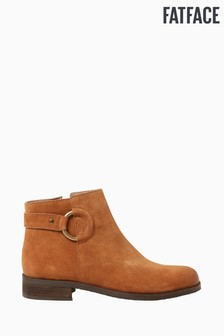 FatFace Tan Horsham Hoop Detail Ankle Boots