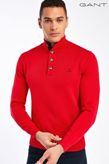 GANT Red Sporty Mock Neck Sweater