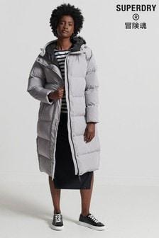Superdry Studios Longline Duvet Padded Coat