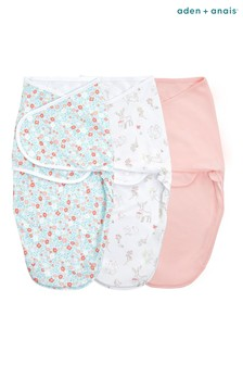 Aden & Anais™ Pink Essentials Easy 3 Pack Swaddles