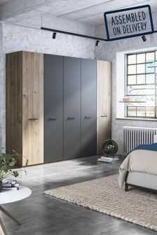 Jenson Hinged 5 Door Wardrobe