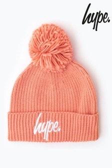 Hype. Knit Ribbed Bobble Beanie