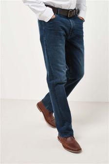 Stretch-Jeans mit Gürtel