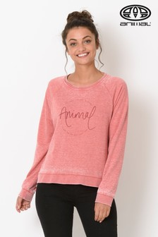 Animal Mineral Red Lamu Crew Neck Sweatshirt