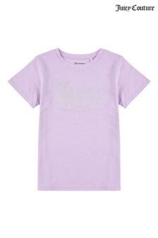 Juicy Couture Purple Logo Print T-Shirt