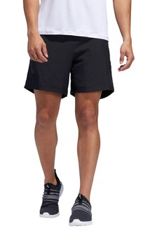 adidas Black Run It 3 Stripe Shorts