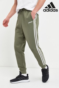 adidas Green Essentials 3 Stripe Joggers