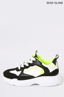 River Island Neon Ugly Trainers
