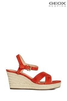 Geox Womens Soleil Scarlet Sandals