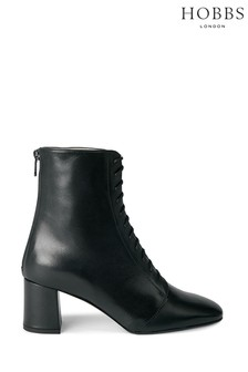 Hobbs Black Imogen Lace-Up Boots