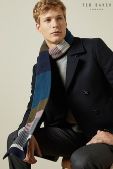 BOXED MENS SMART SCARF..STRIPE OR CHECKED..
