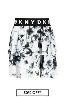 DKNY White Cotton Skirt