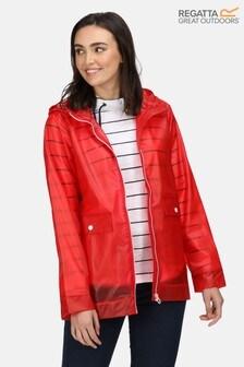 Regatta Red Takala II Transparent Waterproof Jacket